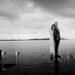 Langærmet brudekjole