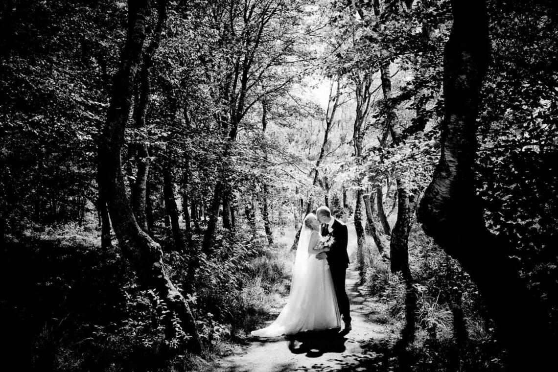 Når jeg fotografere bryllup